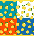four seamless pattern with lemon vector image vector image
