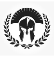Gladiator knight icon with laurel wreath vector image vector image