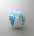 gray globe element for design vector image vector image