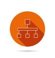 Hierarchy icon Organization chart sign vector image vector image