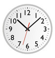 icon of white clock with shadow vector image vector image