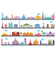 icons world tourist attractions symbols vector image vector image