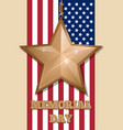 inscription - memorial day and golden star vector image vector image