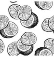 lemons hand drawn seamless color pattern vector image vector image