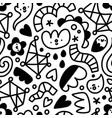 let me doodle it for you abstract shapes pattern vector image vector image