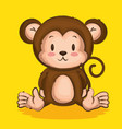 little cute monkey character vector image vector image