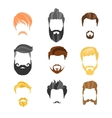 Male Hairstyle Constructor For Face Hipster vector image vector image