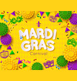 mardi gras carnival background with mask shrove vector image vector image