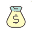 money bag icon design for financial graphic vector image