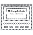 motorcycle chain frames and elements set
