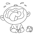 outlined crying baby vector image