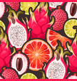 pattern with seamless the exotic friut vector image vector image