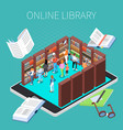 reading and library composition vector image vector image