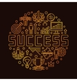 Round success linear symbol vector image vector image