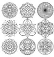 sacred geometry symbols - set 03 vector image vector image