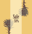sale flyer plant hand-drawn vector image vector image