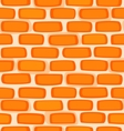 Seamless texture of a cartoon brick wall vector image vector image