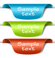 set multicolored tag labels vector image