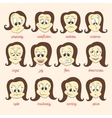 set of smile faces vector image