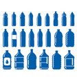 set of water bottle icons vector image