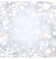 shining winter background with snowflakes vector image vector image