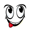 silly cartoon face vector image vector image