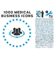 Strict Management Icon with 1000 Medical Business vector image vector image