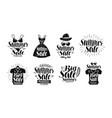 summer sale label set fashion boutique clothes vector image vector image