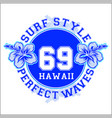 surf style vector image vector image