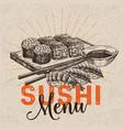 sushi bar menu vector image vector image