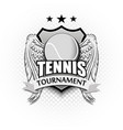 tennis logo template design vector image