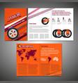 tyre brochure design vector image vector image