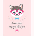 valentines card with husky vector image vector image