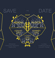wedding invite card design vector image vector image