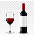 wine bottle vector image