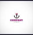 wine sea company logo vector image vector image