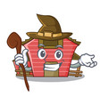 witch spring day with a red barn cartoon vector image