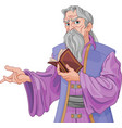 wizard with book vector image vector image