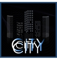graphical urban cityscape vector image