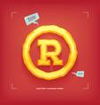 registered trademark symbol golden jewel typeface vector image