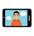 Video Communication Smart Phone vector image