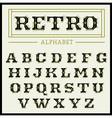 Vintage font set vector image