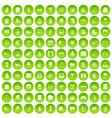 100 amusement icons set green circle vector image vector image