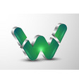 3d logo green letter g divided in sections vector image