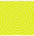Abstract Yellow Spiral Pattern vector image vector image