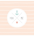 Anchor wedding invitation template vector image vector image