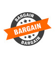 Bargain sign round ribbon sticker