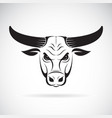 bull head on a white background wild animals vector image vector image
