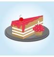 Cake icon design vector image