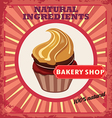 cakes label vector image vector image
